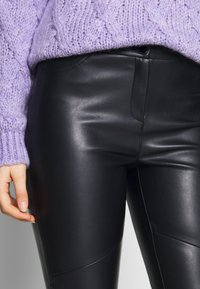 Esprit Collection - PLEATHER - Stoffhose - black - 5