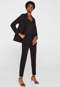 Esprit Collection - MIT TONIGEN STITCHINGS - Broek - black - 1
