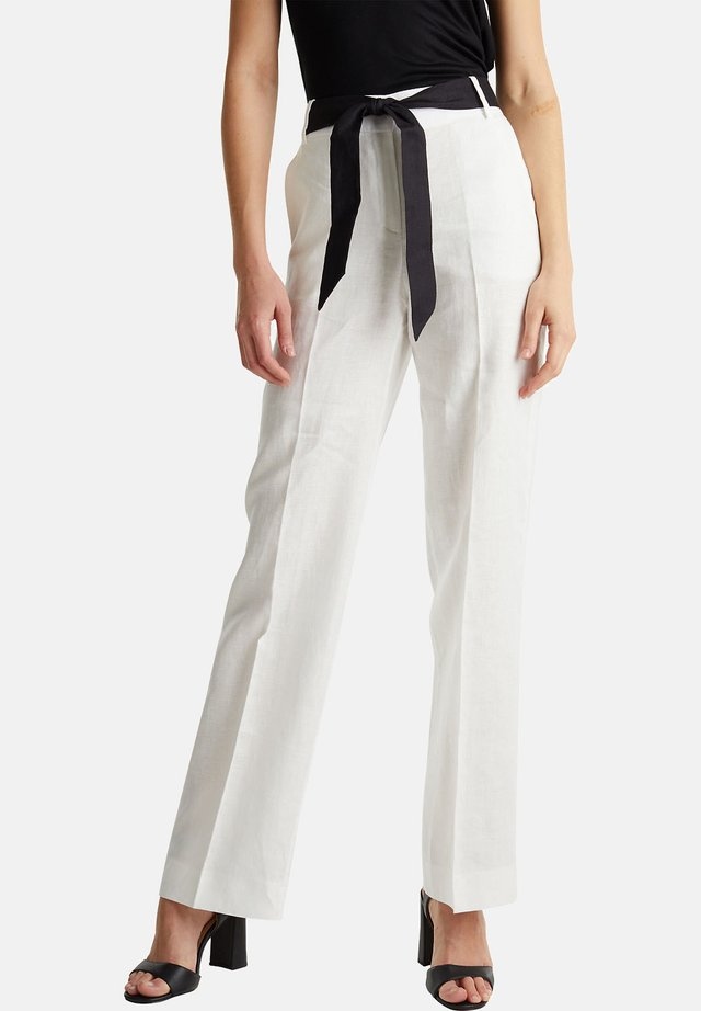 HR FLARED - Stoffhose - off white