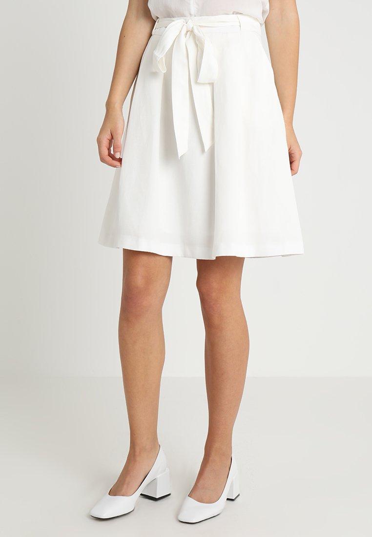 Esprit Collection - SKIRT - Falda acampanada - off white