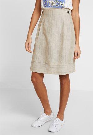 SUMMER STRIPED - A-line skirt - light beige