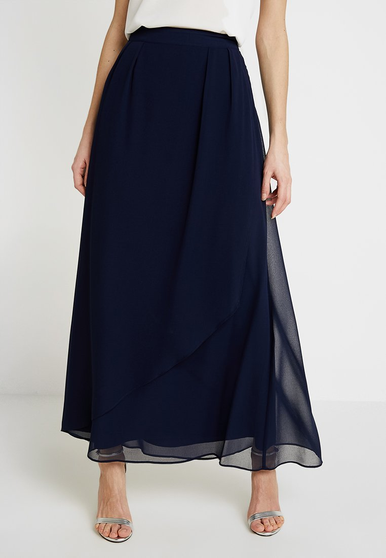 Esprit Collection - PLEATED  - A-line skirt - navy
