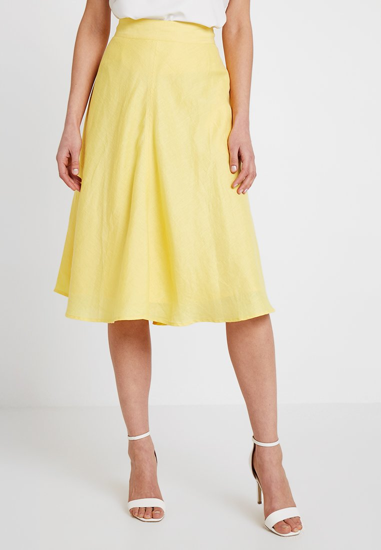 Esprit Collection - SOLID - A-line skirt - bright yellow