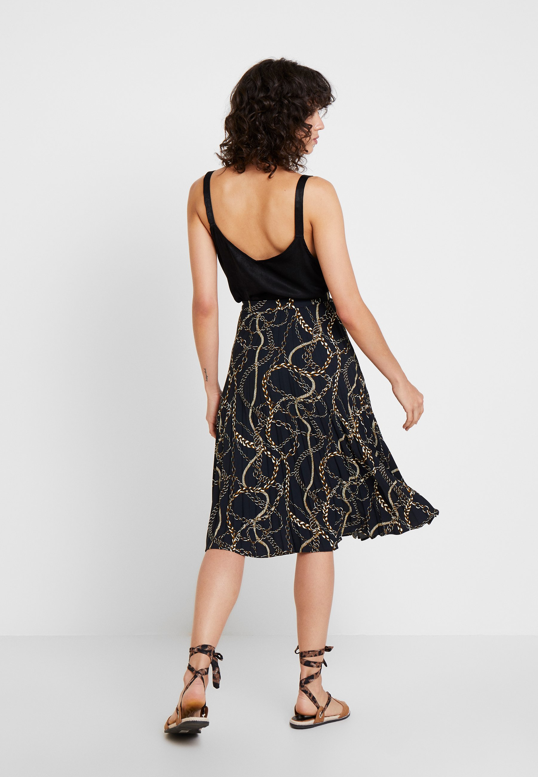 Esprit Collection SUNRAY PLEAT - Gonna a campana black