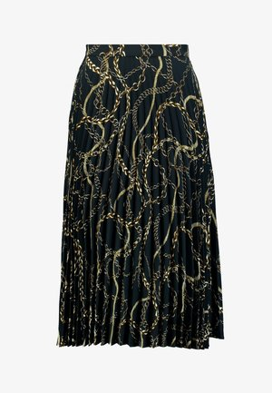 SUNRAY PLEAT - A-line skirt - black