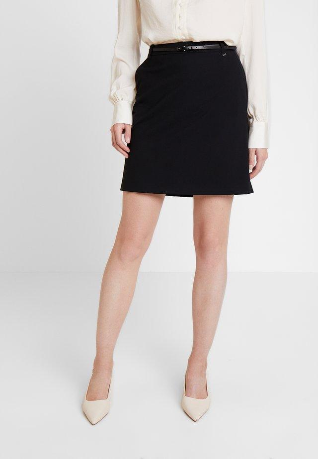 SKIRT - Minifalda - black