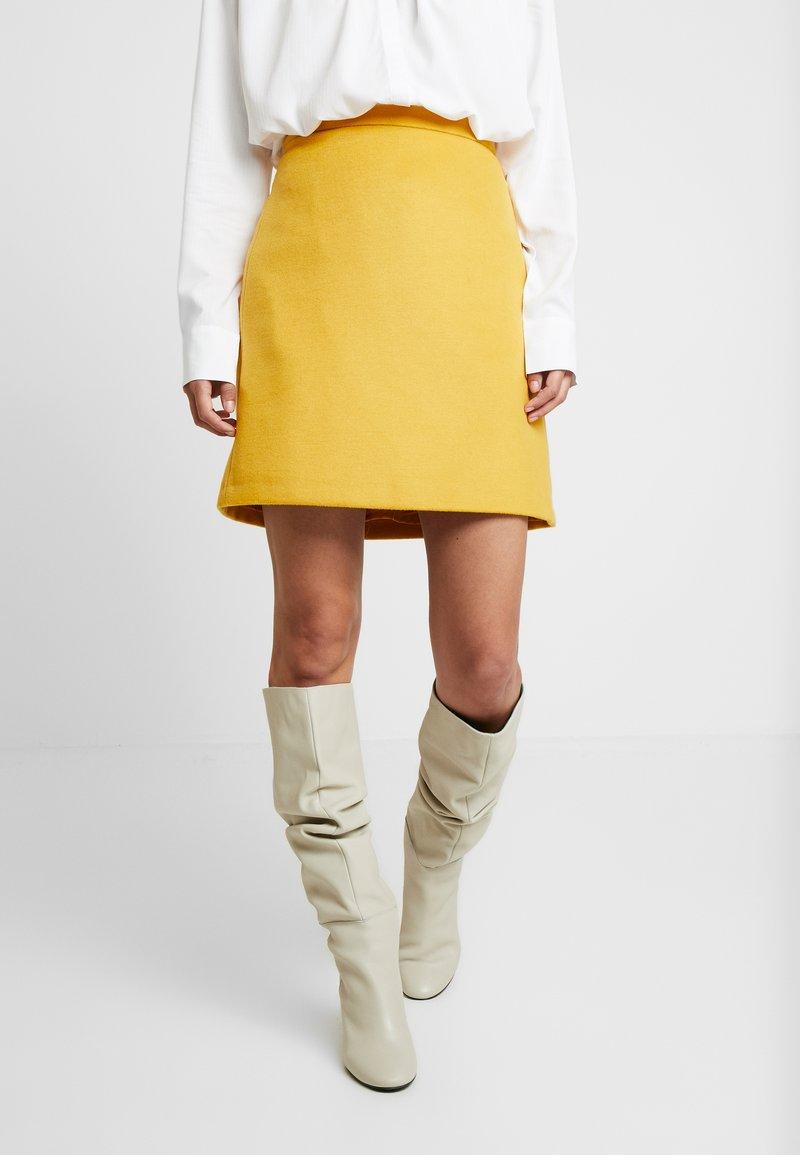 Esprit Collection - SKIRT - A-lijn rok - amber yellow