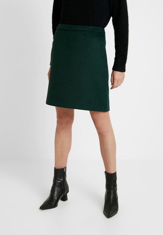 SKIRT - Falda acampanada - bottle green