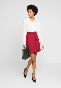 Esprit Collection - SKIRT - A-line skirt - dark red - 1