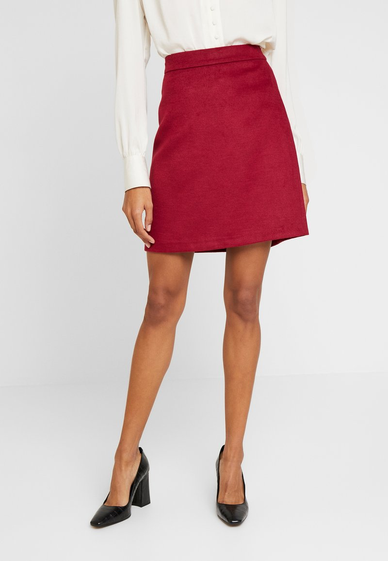 Esprit Collection - SKIRT - A-line skirt - dark red