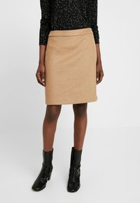Esprit Collection - SKIRT - A-lijn rok - camel - 0