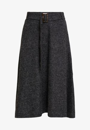 SKIRT - A-line skirt - gunmetal