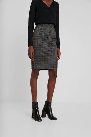 BUSINESS SKIRT - Jupe crayon - gunmetal
