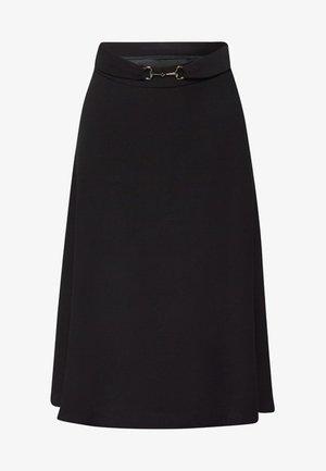 MIT TRENSEN-GÜRTEL - A-line skirt - black