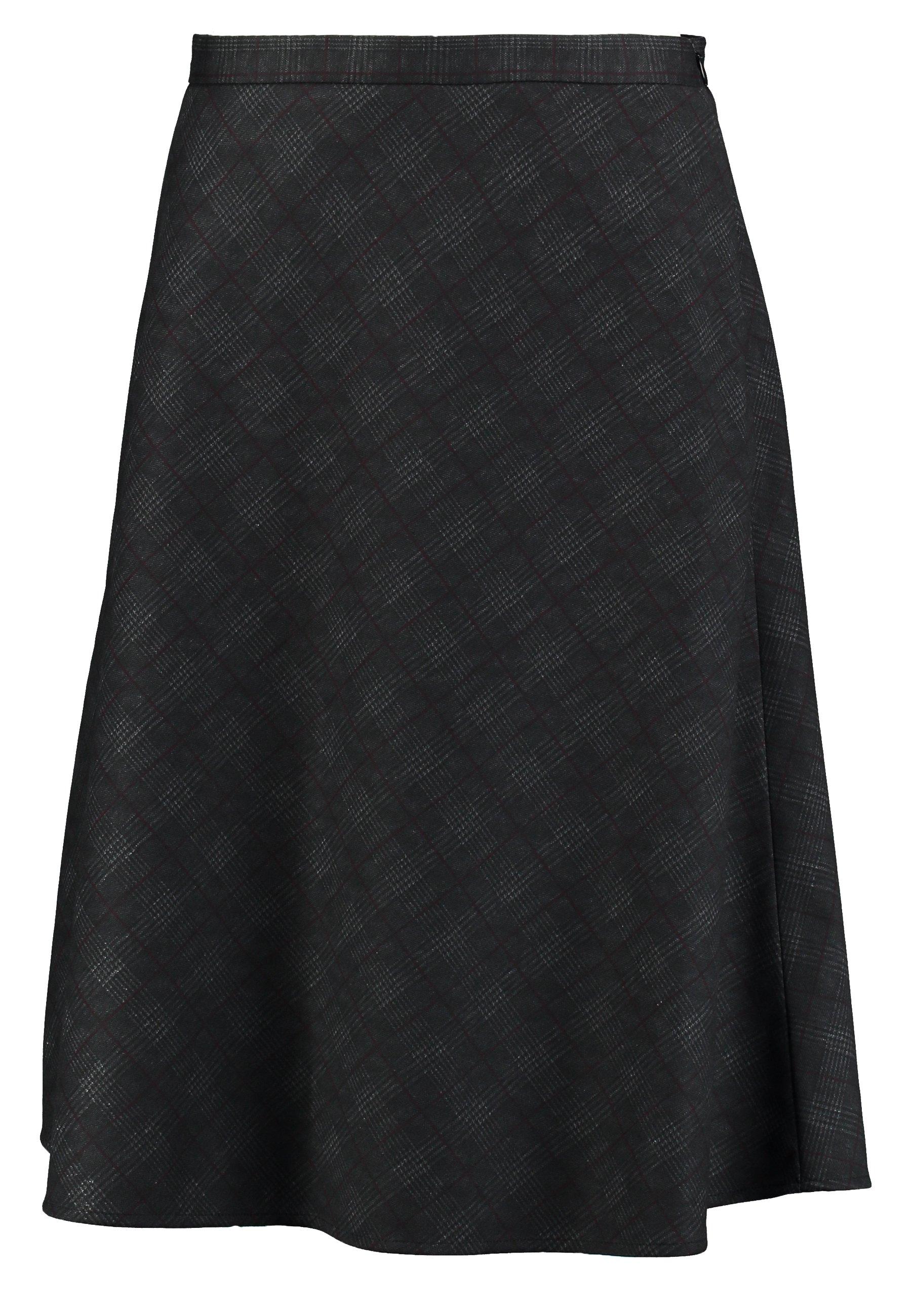 Esprit Collection SUBTLE PRINTED - Spódnica trapezowa - black