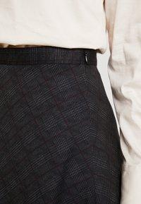 Esprit Collection - SUBTLE PRINTED - A-line skjørt - black - 4