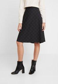 Esprit Collection - SUBTLE PRINTED - A-line skjørt - black - 0