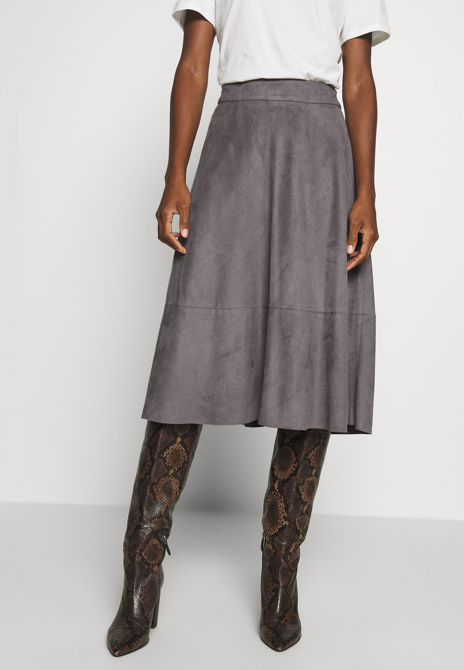 Esprit Collection LINE SKIRT - Spódnica trapezowa - taupe