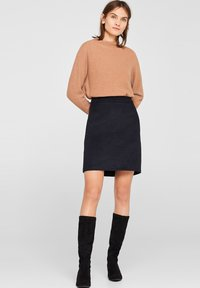 Esprit Collection - A-line skirt - anthracite - 1
