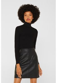 Esprit Collection - Leather skirt - black - 3