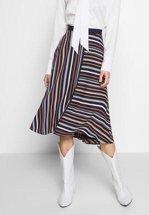 NEW DRAPE LIGHT - Áčková sukně - navy