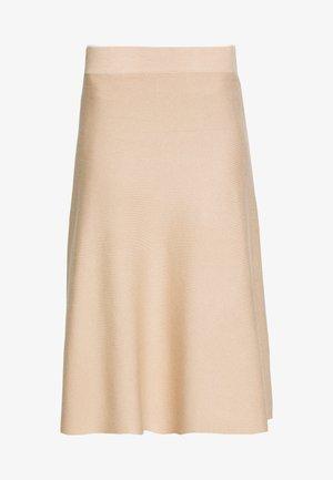 ALINE - A-line skirt - light beige