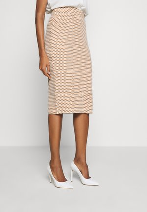 JAQUARD - Pencil skirt - off white