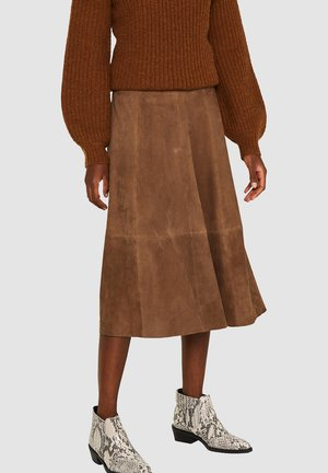 A-line skirt - taupe