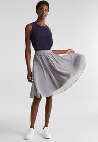 Esprit Collection - A-line skirt - grey - 1