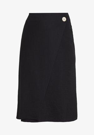 WRAP SKIRT - Áčková sukně - black