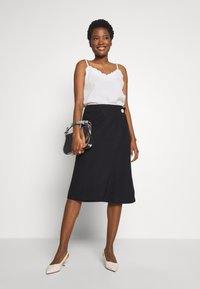 Esprit Collection - WRAP SKIRT - A-line skjørt - black - 1