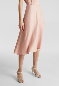 Esprit Collection - SATEEN MAX SKIRT - A-Linien-Rock - nude - 3