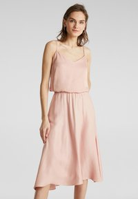 Esprit Collection - SATEEN MAX SKIRT - A-Linien-Rock - nude - 1