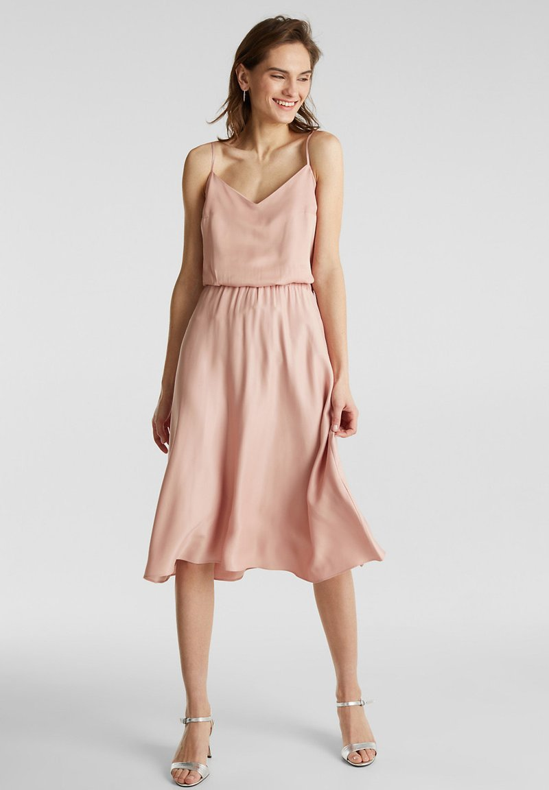 Esprit Collection - SATEEN MAX SKIRT - A-Linien-Rock - nude