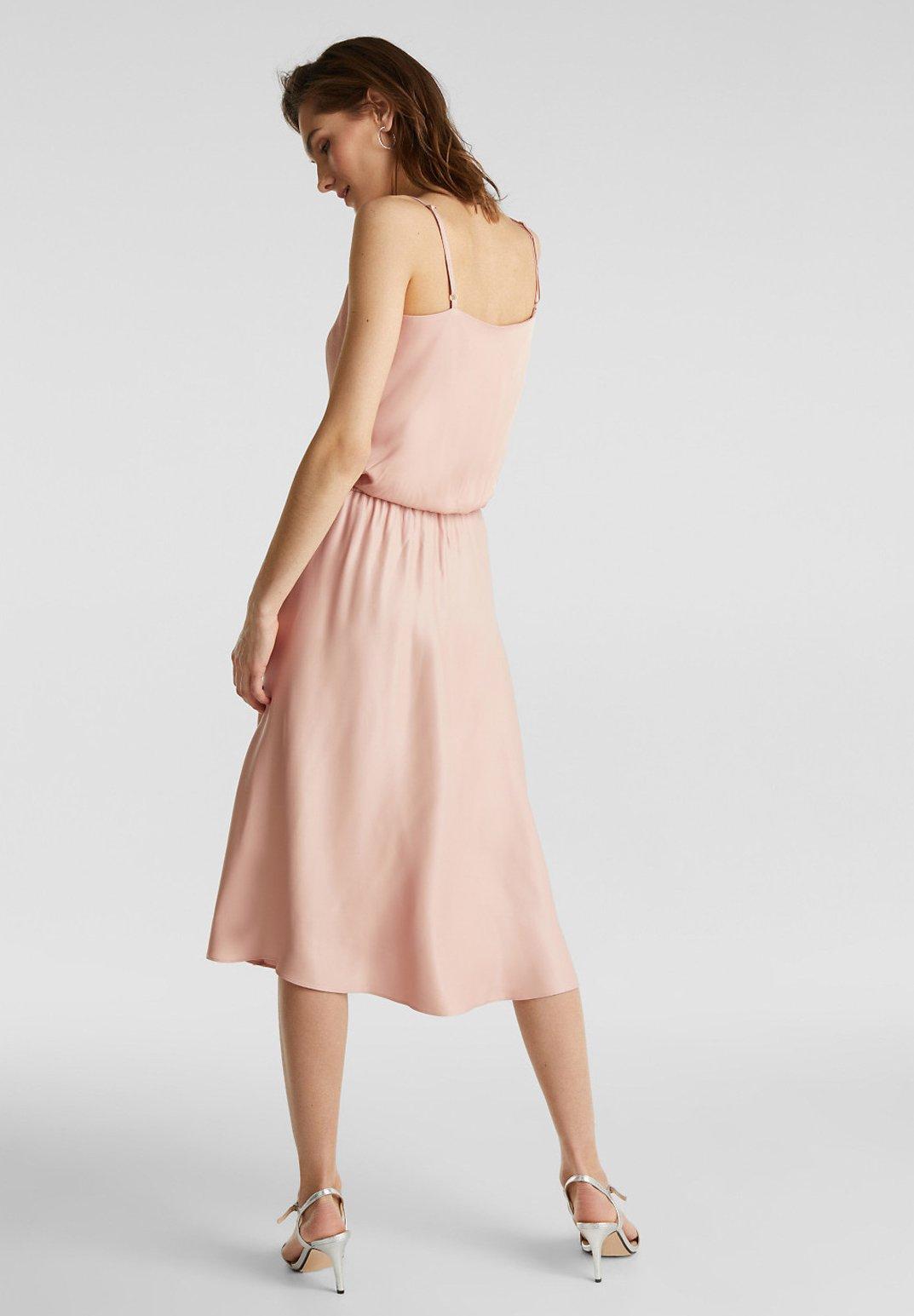 Esprit Collection Sateen Max Skirt - A-snit Nederdel/ A-formede Nederdele Nude