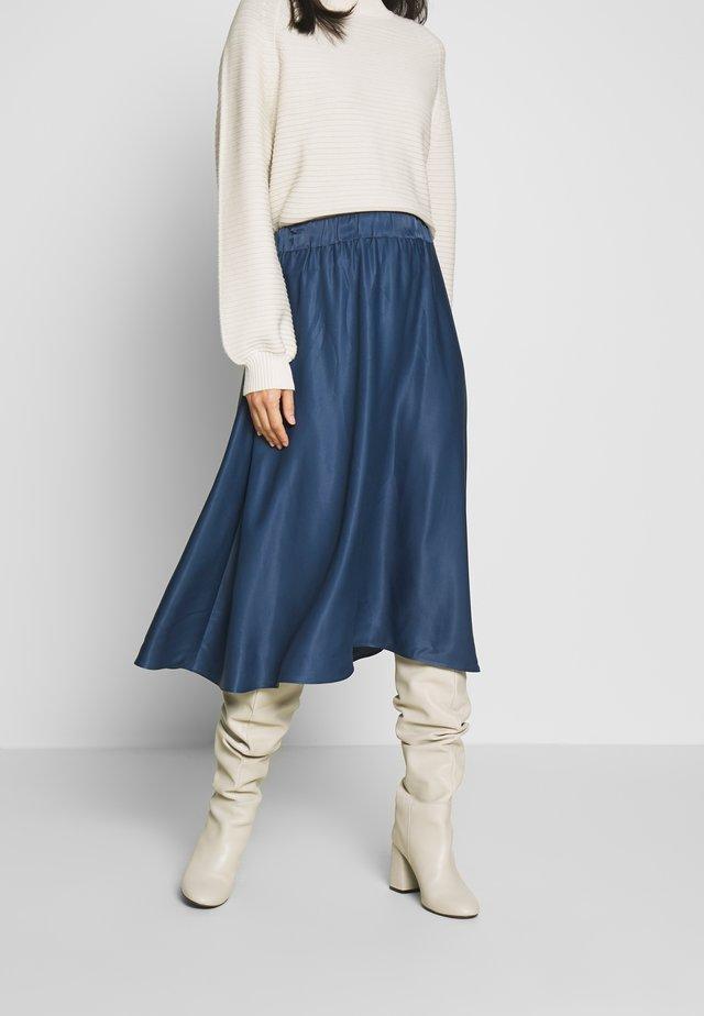 SATEEN MAX SKIRT - Áčková sukně - petrol blue 2