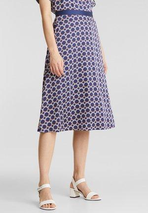 MIT GRAFIK-PRINT - A-line skirt - navy