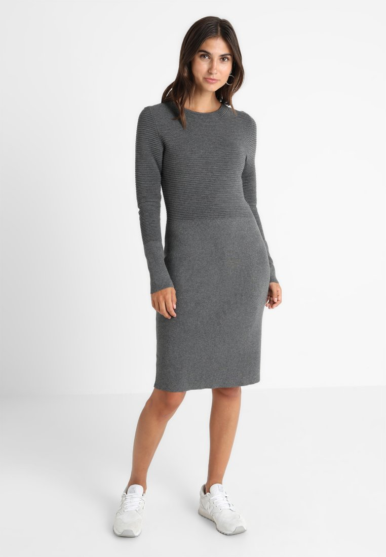 Esprit Collection Robe pull - gris foncé dark grey