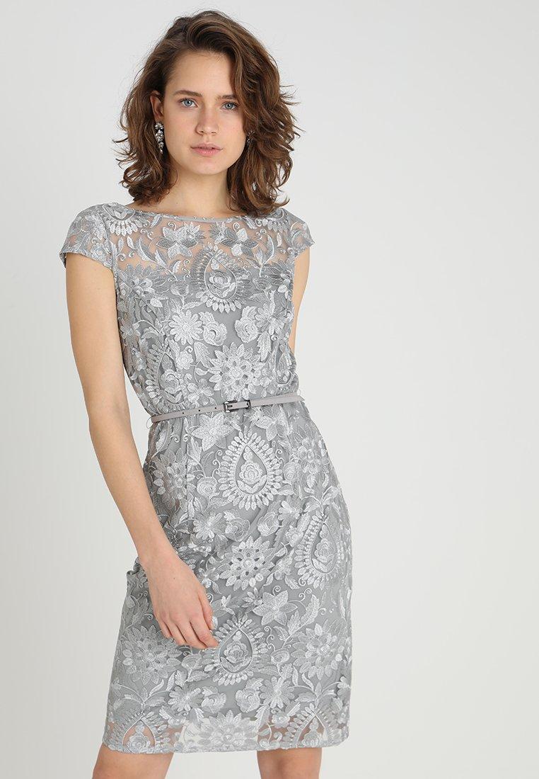 Esprit Collection - PAISLEY FLORAL - Sukienka koktajlowa - silver