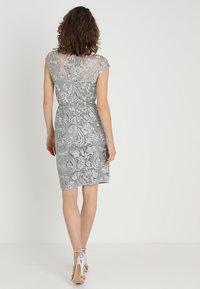 Esprit Collection - PAISLEY FLORAL - Sukienka koktajlowa - silver - 2