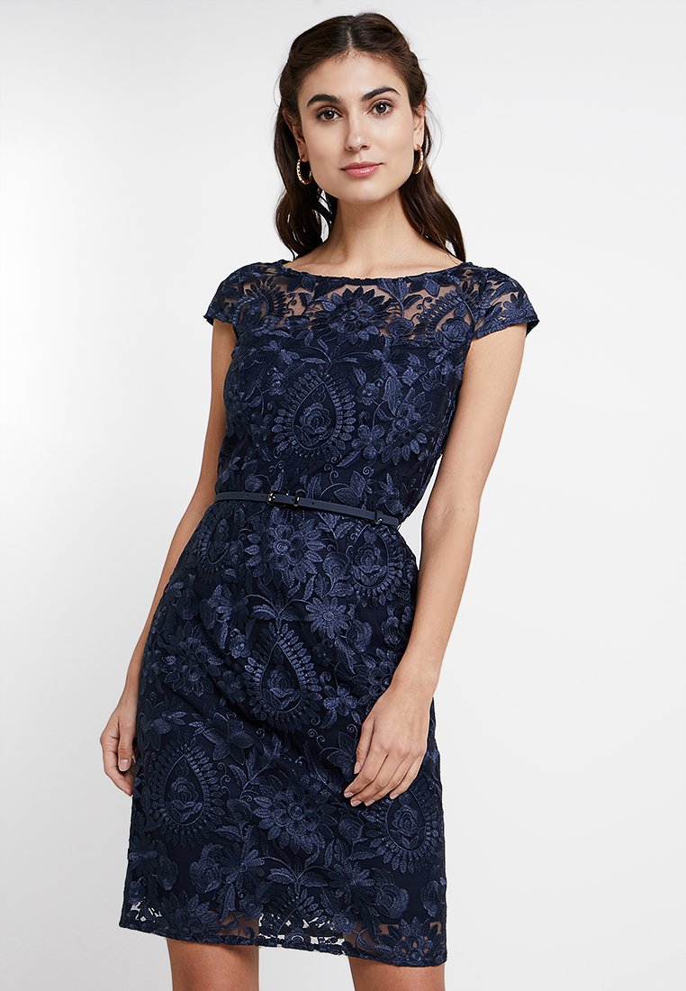 Esprit Collection - PAISLEY FLORAL - Cocktailkleid/festliches Kleid - navy