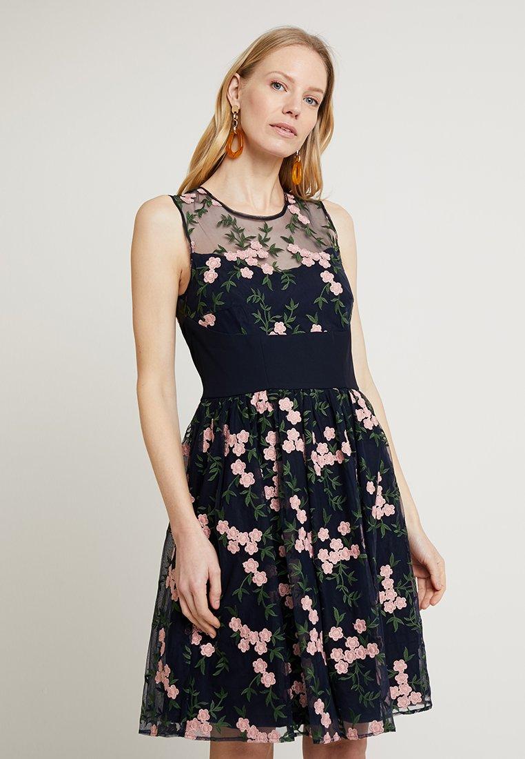 Esprit Collection - FLORAL VINES - Cocktail dress / Party dress - navy
