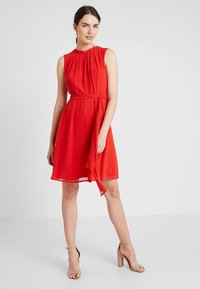 Esprit Collection - NEW FLUID - Vestido de cóctel - orange red - 1