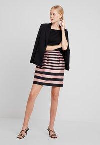 Esprit Collection - STRIPE DRESS - Kjole - black - 1