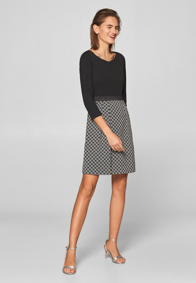 Esprit Collection - MIT JACQUARD-ROCK - Day dress - black