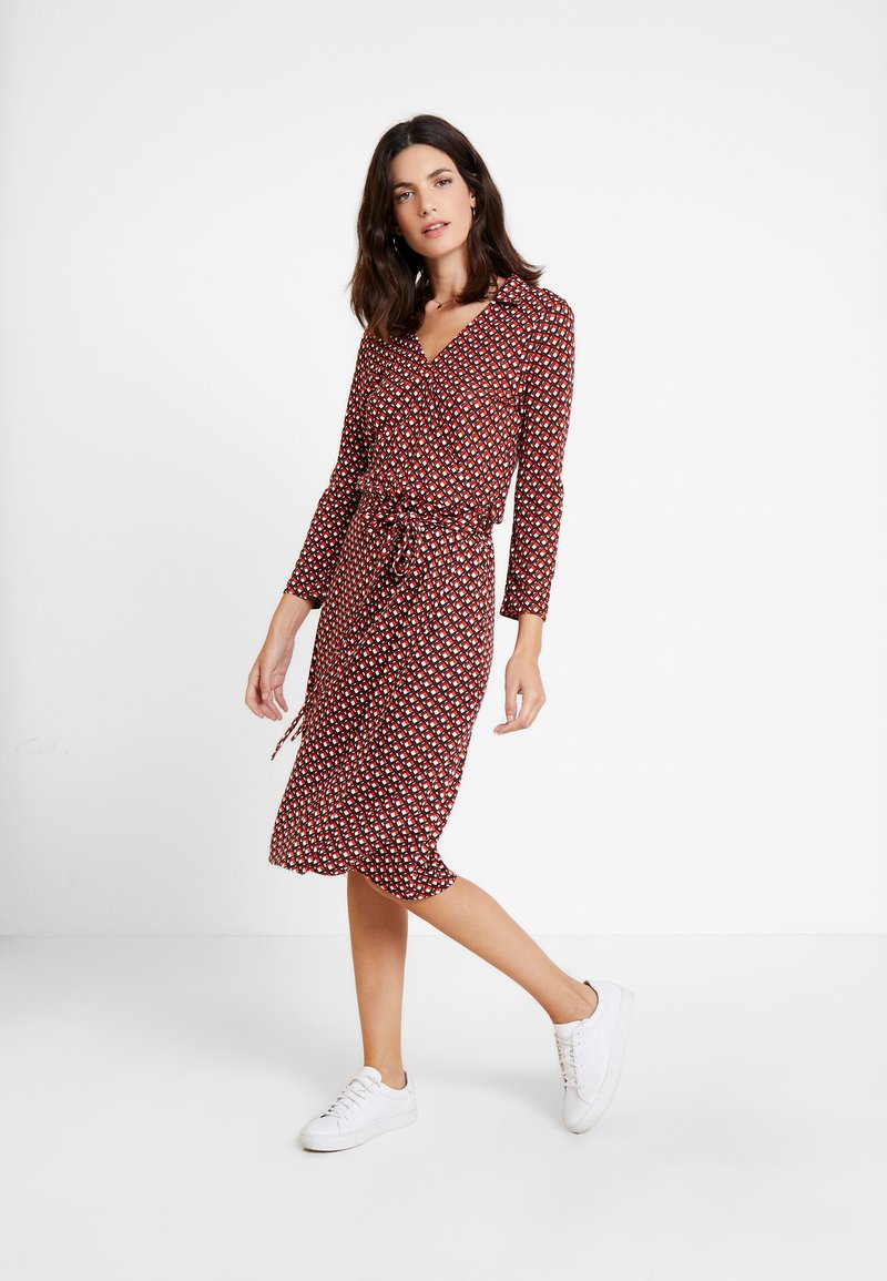 Esprit Collection - WRAP DRESS - Jersey dress - red