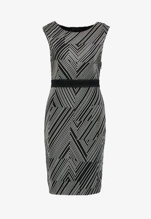 PRINTED PLISSE - Pouzdrové šaty - black