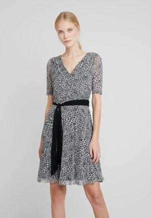 PRINTED - Jersey dress - black