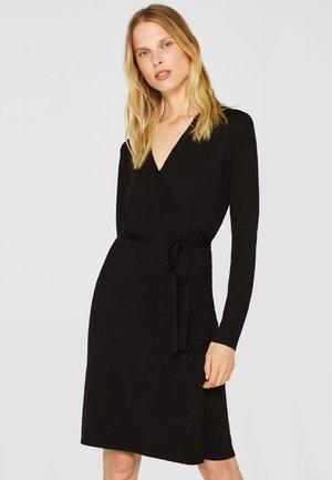 WRAPPED DRESS - Jumper dress - black