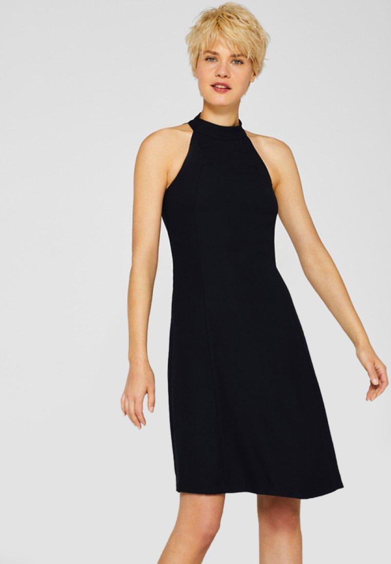 Esprit Collection - MIT RAFFINIERTER RÜCKSEITE UND STRETCH - Freizeitkleid - black